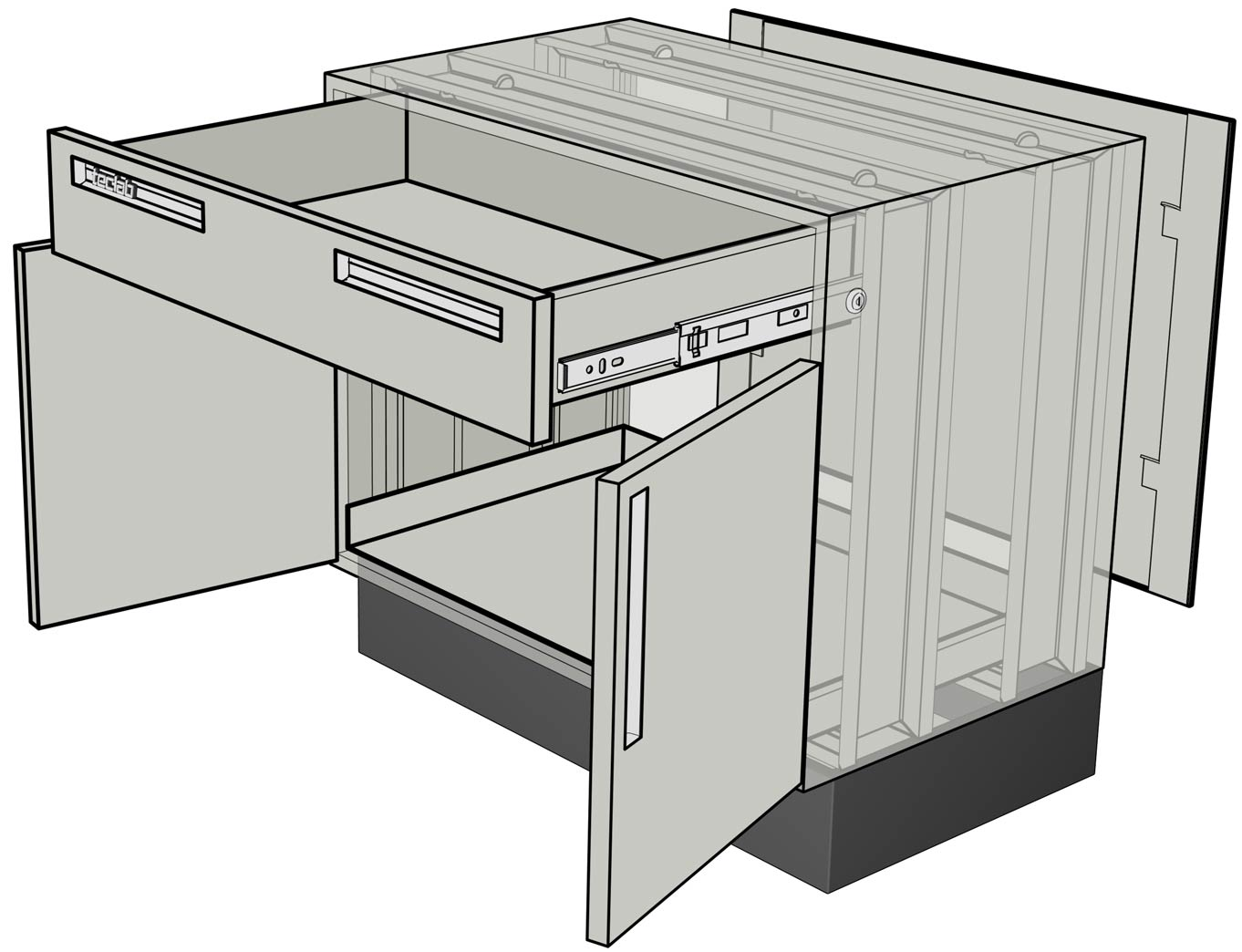 Cabinet Drawer Construction Details : Teclab base cabinet construction details